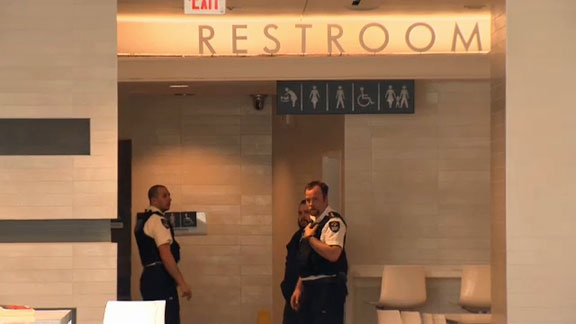 Body found inside wall of women's washroom at Calgary mall