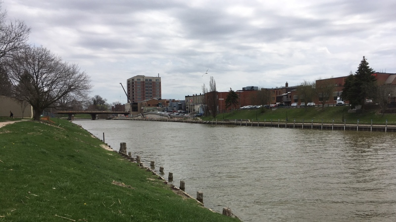 Thames River in Chatham-Kent, Ont., on Wednesday, May 2, 2018. (Chris Campbell / CTV Windsor)