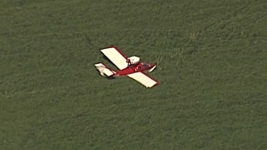 A pilot was forced to make an emergency landing in a field in Pitt Meadows, B.C. on Wednesday, May 2, 2018.
