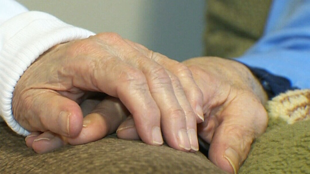 Elderly couple fighting veterans' hospital policy