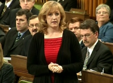 Natural Resources Minister Lisa Raitt responds during question period in the House of Commons in Ottawa, Wednesday, June 3, 2009.