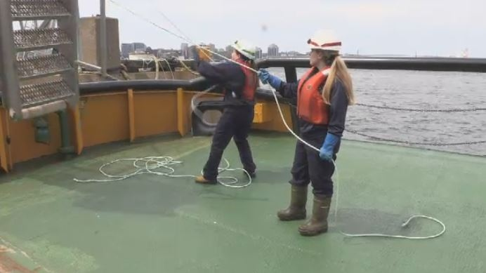 Halifax tugboat makes history with all-female crew | CTV