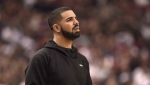File photo: Canadian rapper Drake at a Toronto Raptor's game, April 26, 2016. (THE CANADIAN PRESS/Frank Gunn)