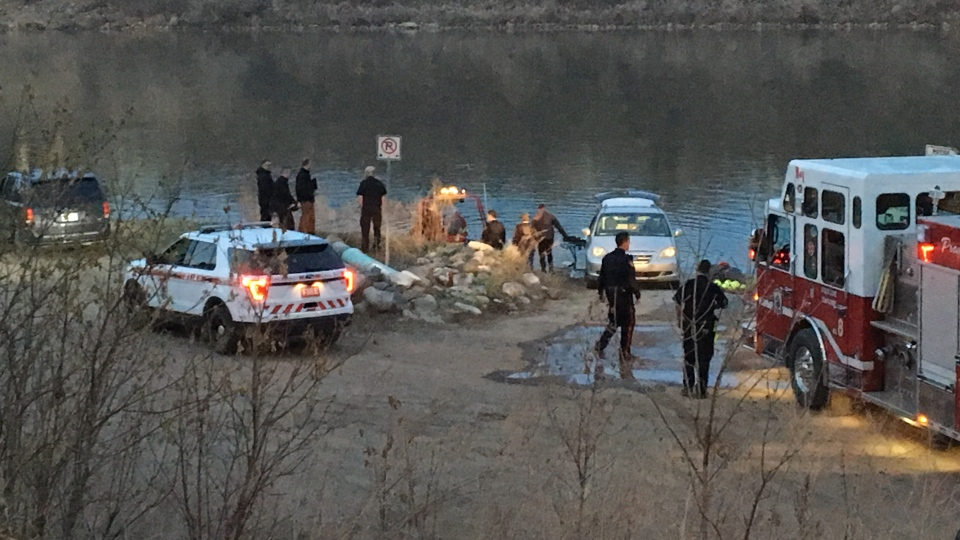 Members of the fire department found a body in the South Saskatchewan river on Thursday evening (CTV Saskatoon).