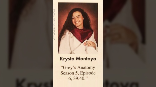 A teen used \'Grey\'s Anatomy\' to write a hidden message in her senior ...