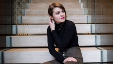 Beatrice Martin, whose stage name is Coeur de Pirate, poses for a portrait in Toronto on Thursday, March 1, 2018. (THE CANADIAN PRESS/Christopher Katsarov)
