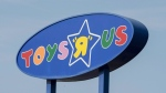 "A Toys ""R"" Us sign is seen in Montreal on September 19, 2017. (THE CANADIAN PRESS/Paul Chiasson)"