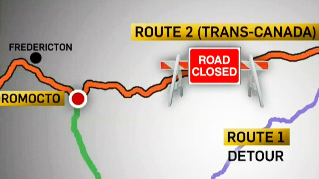 Dangerous detours: N B  road closures cause issues | CTV