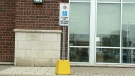 Accessible parking permit sign