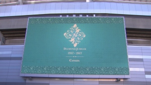 The spiritual leader of the world's Ismaili Muslims, the Aga Khan, was in Vancouver Saturday and Sunday to celebrate his Diamond Jubilee at BC Place. (Photos by CTV Vancouver)