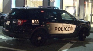 A Vancouver police vehicle is parked near the scene of an assault on Saturday, May 5, 2018.