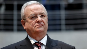 FILE - In this Jan. 19, 2017 file photo Martin Winterkorn, former CEO of the German car manufacturer Volkswagen, arrives for a questioning at an investigation committee of the German federal parliament in Berlin, Germany. (AP Photo/Michael Sohn)