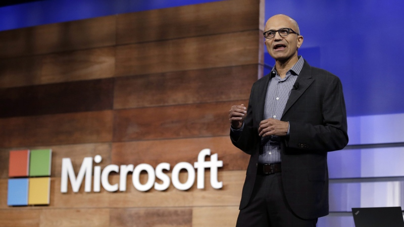 Microsoft CEO Satya Nadella in Bellevue, Wash., on Nov. 29, 2017. (Elaine Thompson / AP)