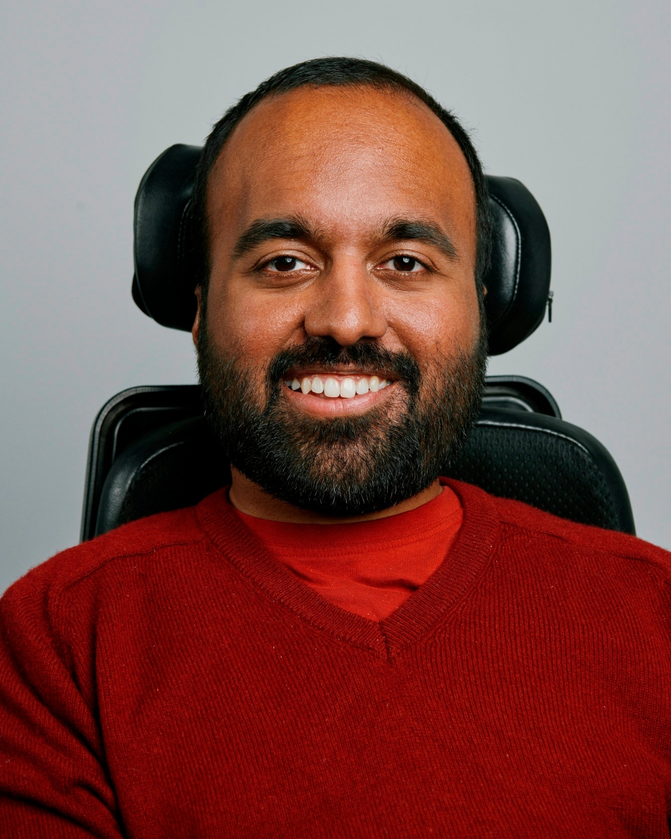 This undated photo provided by Airbnb shows Srin Madipalli, a geneticist and lawyer with an Oxford MBA and Airbnb's accessibility product and program manager. (Airbnb via AP)