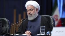 President Hassan Rouhani in Mashhad, Iran