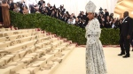 Rihanna attends The Metropolitan Museum of Art's Costume Institute benefit gala celebrating the opening of the Heavenly Bodies: Fashion and the Catholic Imagination exhibition on Monday, May 7, 2018, in New York. (Photo by Evan Agostini/Invision/AP)