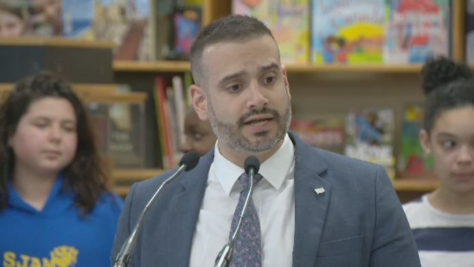 Nova Scotia Education Minister Zach Churchill makes an inclusive education announcement on May 8, 2018.