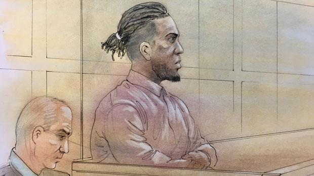 Calvin Nimoh court sketch