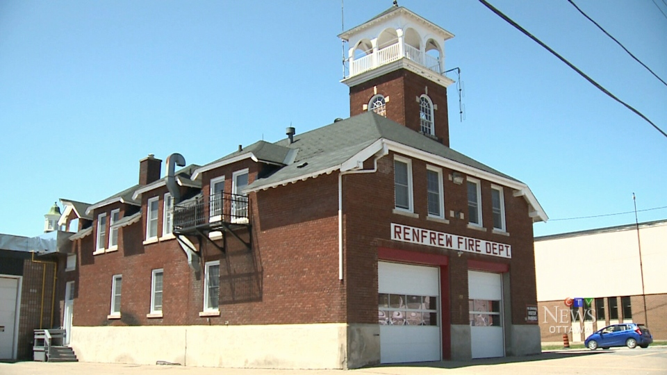 The Renfrew fire hall is seen in this file image.