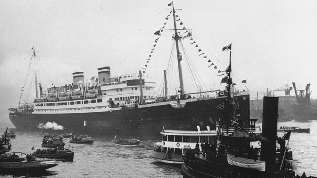 MS St. Louis in Hamburg, Germany, prior to departure for Cuba in May 1939. THE CANADIAN PRESS/HO-Courtesy of the U. S. Holocaust Memorial Museum