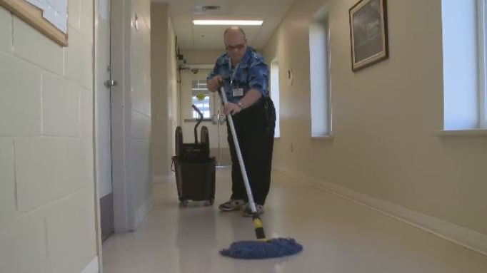 After 40 years on the job, Johnny MacLeod is hanging up his mop and broom and leaving his janitorial duties behind.