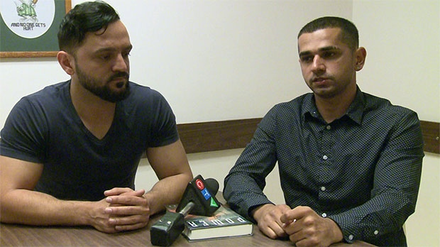Monir Omerzai and Mujtaba Abdul Ghafar say they were asked to leave a Denny's restaurant in Lethbridge after getting into a verbal exchange with another customer at the end of April.