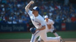 Toronto Blue Jays' closer Roberto Osuna pitches against the New York Yankees during the ninth inning of a baseball game Sunday, September 24, 2017 in Toronto. THE CANADIAN PRESS/Jon Blacker