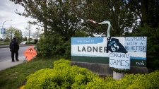 Ladner town sign
