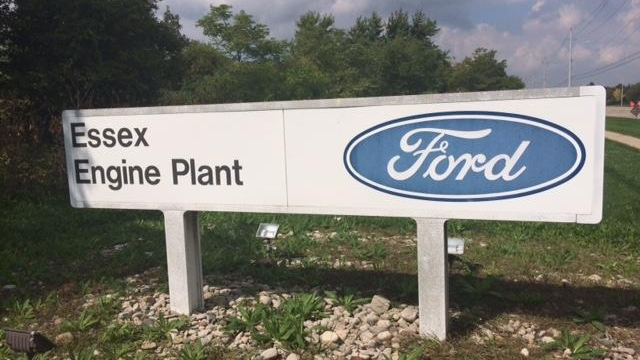Ford Essex Engine Plant sign ( Peter Langille / AM800 News )