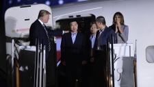 Trump greets freed prisoners