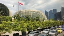 The financial skyline of Singapore