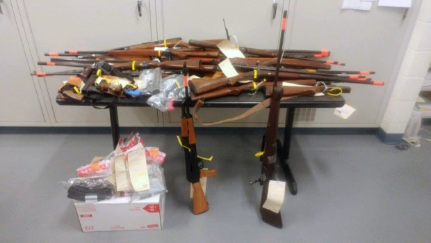 Barrie police recovered 40 items during Ontario's gun amnesty month