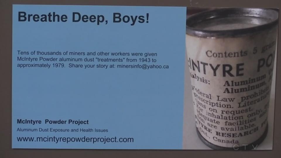Miners were told to inhale McIntyre Powder