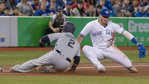Martinez powers Red Sox by Blue Jays