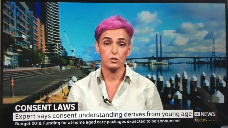 Sexuality educator Deanne Carson made the remarks on ABC News in Australia on May 8, 2018. (@dantwitthaus/Twitter)