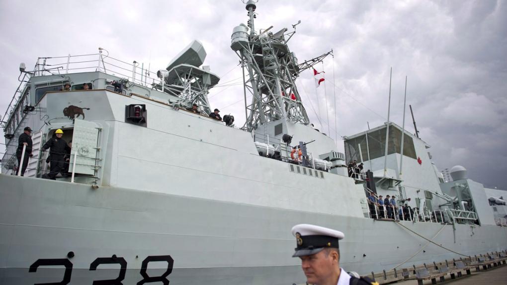 HMCS Winnipeg in Vancouver in 2014