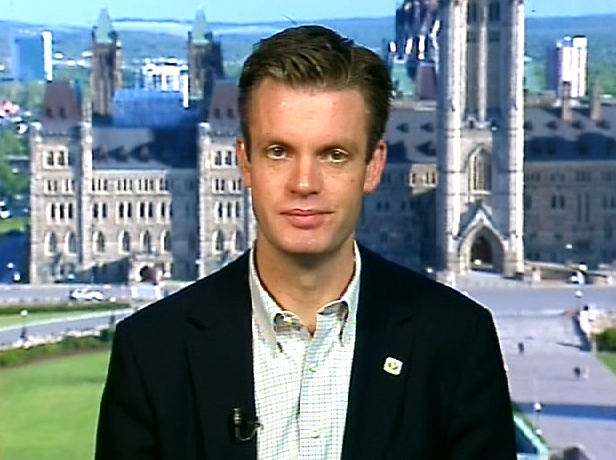 Kory Teneycke, spokesperson for the prime minister's office, appears on Canada AM from CTV studios in Ottawa, Thursday, June 4, 2009.
