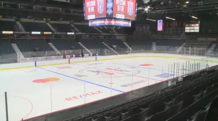 Preparations are well underway at the Brandt Centre for the Memorial Cup, starting May 17