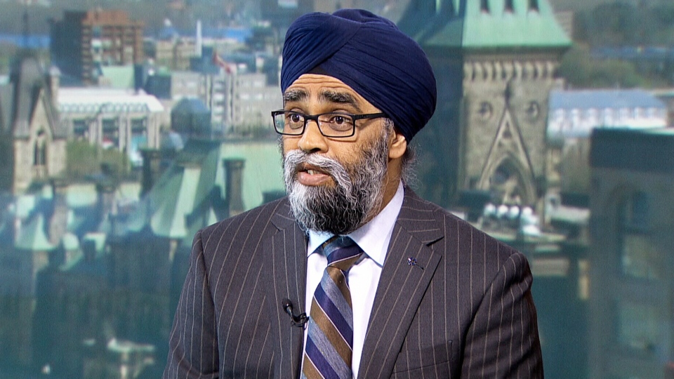 National Defence Minister Harjit Sajjan on CTV's Question Period.
