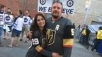 Golden Knights fans attend Game 1 of the Western Conference Finals against the Winnipeg Jets at Bell MTS Place. (Source: Beth Macdonnell)