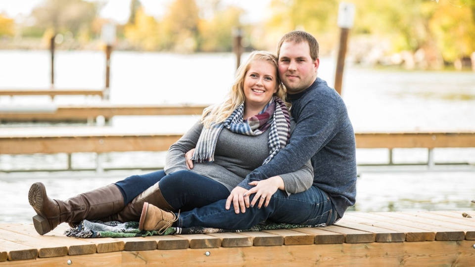 Laura Wigelsworth and Corey Vollard are seen in an engagement photo posted on Wigelsworth's Facebook page.
