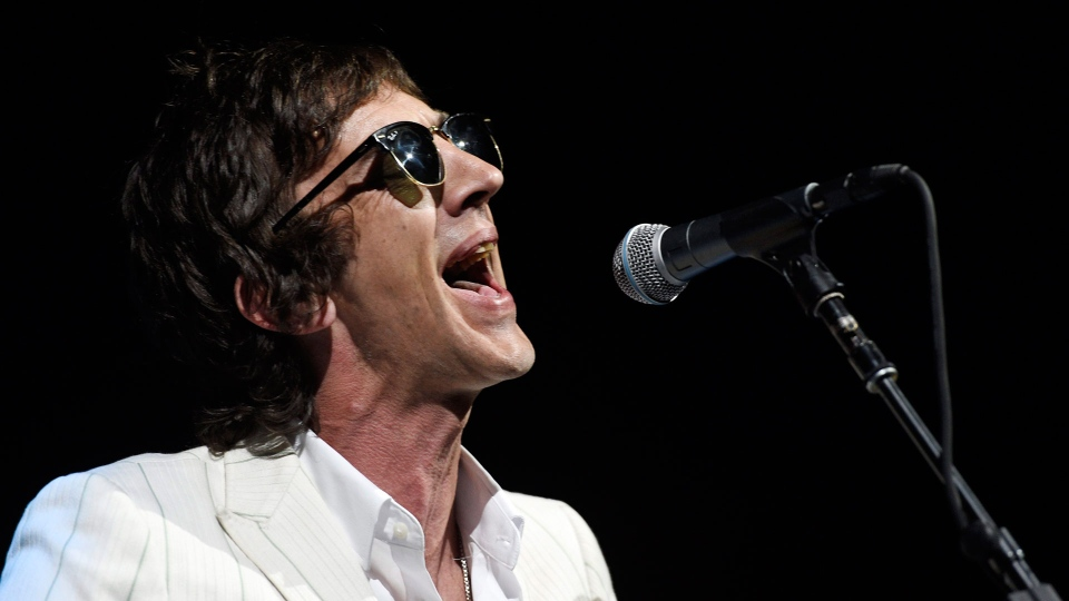 British singer/songwriter Richard Ashcroft performs at the Greek Theatre, Friday, May 11, 2018, in Los Angeles. (Photo by Chris Pizzello/Invision/AP)