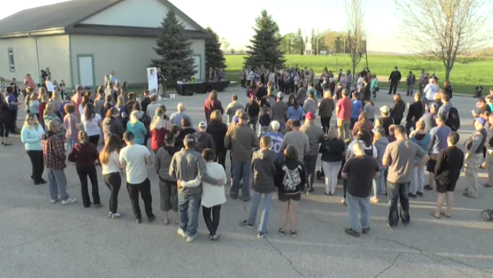 The community gathered at a church in Vanastra to remember 27-year-old Laura Wiglesworth.