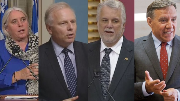 The Quebec leaders' debate will feature Quebec solidaire leader Manon Masse, Parti quebecois leader Jean-Francois Lisee, Liberal leader Philippe Couillard and CAQ leader Francois Legault.