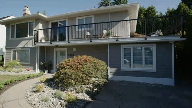 Norman Waine and Jeanine Almeida's North Vancouver home is seen in this undated photo.