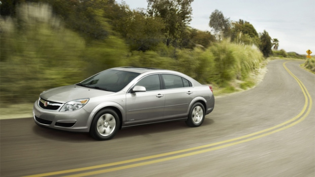 2009 Saturn Aura Hybrid is available from Saturn Canada.