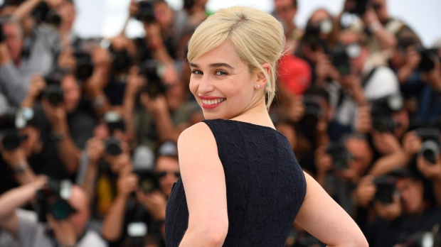 Actress Emilia Clarke poses for photographers during a photo call for the film 'Solo: A Star Wars Story' at the 71st international film festival, Cannes, southern France, Tuesday, May 15, 2018. (Photo by Arthur Mola/Invision/AP)