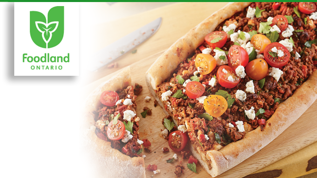 Beef and Feta Pide