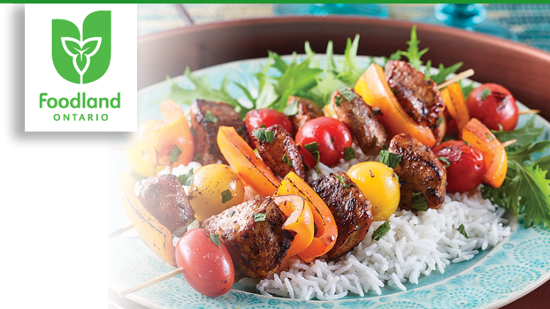 Marinated Chicken and Vegetable Shish Kebabs