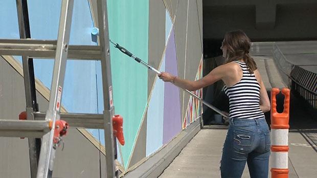 public art, Michelle Hoogveld, mural, 4th Street u